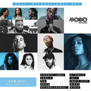 "Wizkid Breaks Record With MOBO Award Nomination For ""Best International Act"" Alongside Jay Z, Drake, Kendrick Lamar"