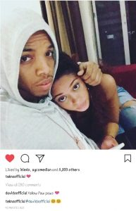 Tekno And Lola Rae Loved Up In New Photo, Davido Calls Them Yellow Pawpaws