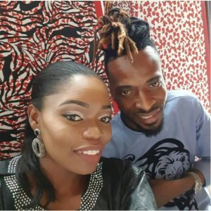 BBnaija's Bisola Aiyeola Rocks Agbada Outfit, Poses With 9ice.