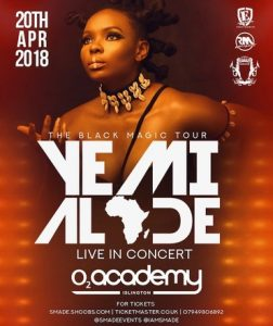 YEMI ALADE Live 02Academy LONDON 20 April
