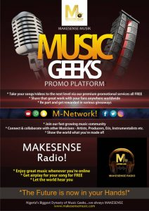FREE promotional services when you join our MUSIC GEEK Platform