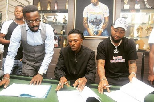 DAVIDO SIGNS IDOWEST TO DMW