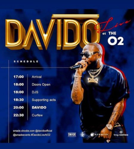 """I Talk am I Do am"" – Davido brags after selling out 20,000 Capacity O2 Arena"