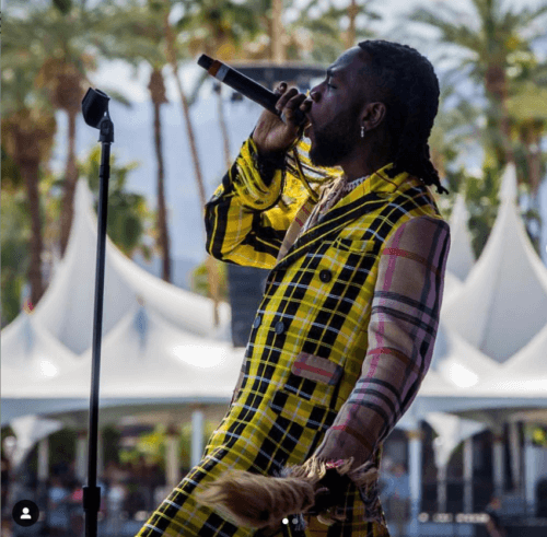 Watch Burna Boy's Extraordinary Showmanship At Coachella 2019