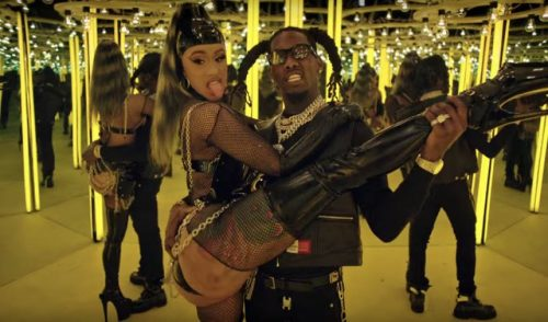 "Offset And Cardi B Displays Fashion And Love, In ""Clout"" Video"