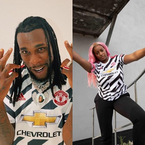 Burna Boy, DJ Cuppy launch Manchester United's third kit